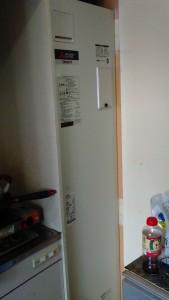 ワンルームマンション電気温水器入替設置工事
